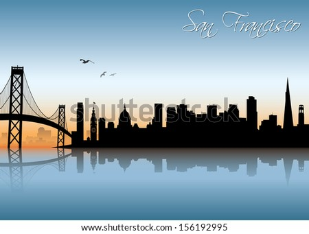 san francisco skyline   vector