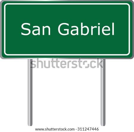 san gabriel   california  road