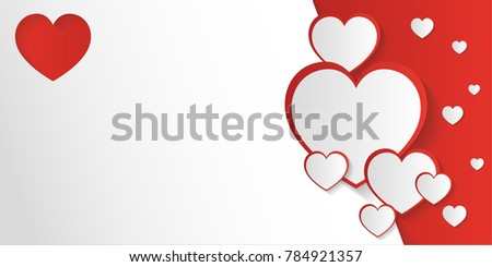 San Valentine Day Invitation Card Or Background With Space To Writing  Message   San Valentines Day
