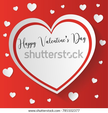 san valentine's day card with