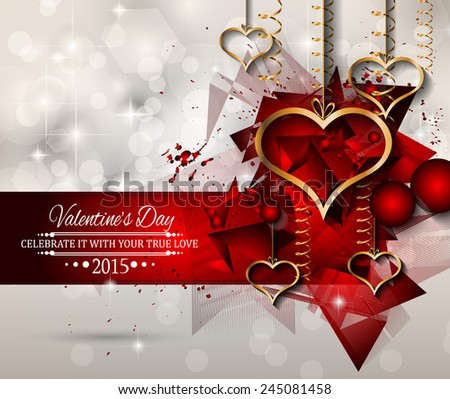 San Valentines Day Background For Dinner Invitations, Romantic Letterheads,  Book Covers, Poster Layout