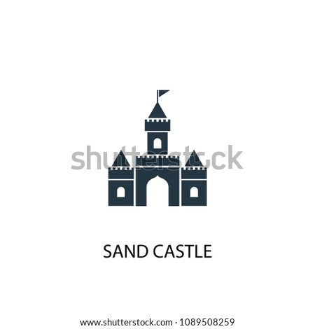 sand castle icon. Simple element illustration. sand castle concept symbol design from Beach collection. Can be used for web and mobile.