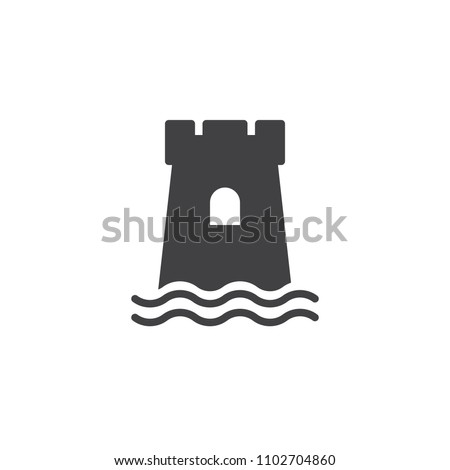 Sand castle vector icon. filled flat sign for mobile concept and web design. Beach sandcastle simple solid icon. Symbol, logo illustration. Pixel perfect vector graphics