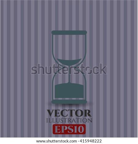 sand clock icon vector symbol flat eps jpg app web concept