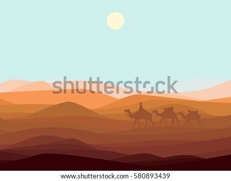 sand desert landscape template