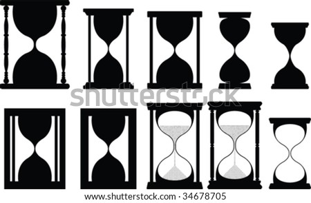 Sand glass vector collection