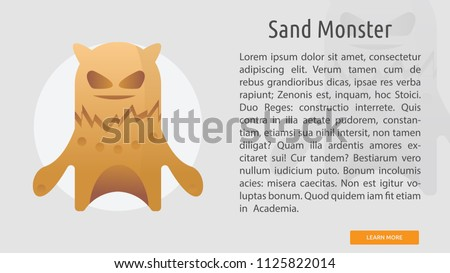 sand monster conceptual banner