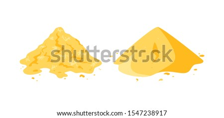 sand pile icons isolated on a