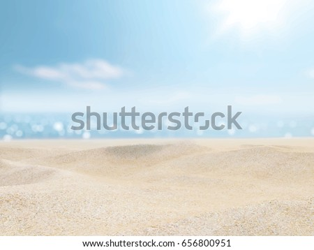sand  sea  sky and summer day