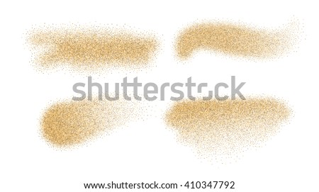 sand stains isolated on white