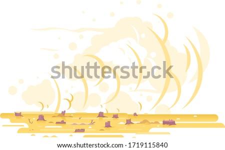 sand storm after deforestation