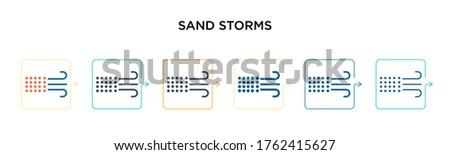 sand storms vector icon in 6