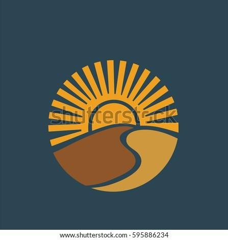sand sun vector