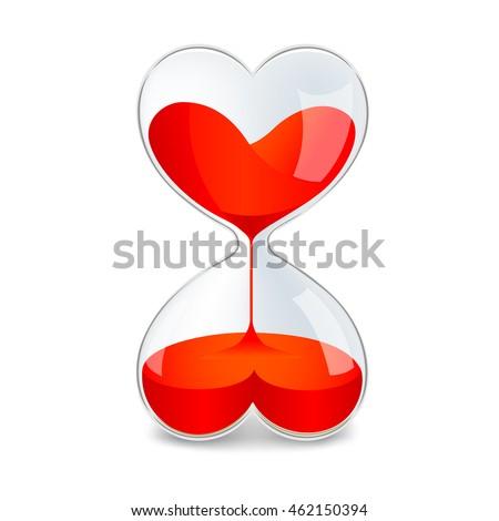 sand watch in shape of heart