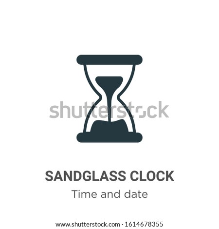Sandglass clock glyph icon vector on white background. Flat vector sandglass clock icon symbol sign from modern time and date collection for mobile concept and web apps design.