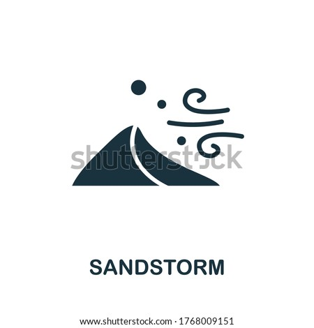 Sandstorm icon. Simple element from natural disaster collection. Creative Sandstorm icon for web design, templates, infographics and more