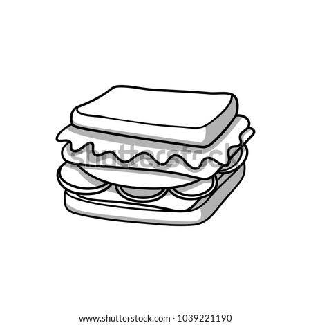 sandwich black and white