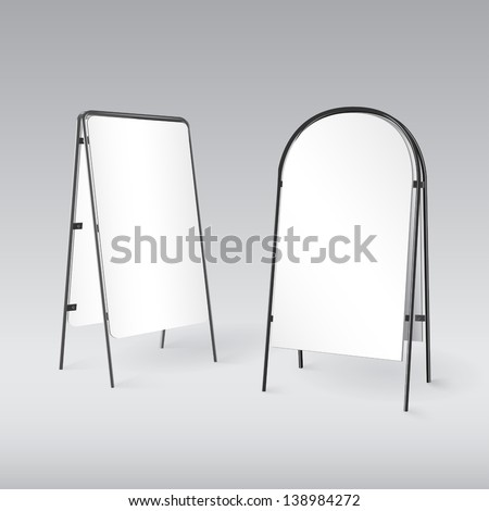 Sandwich board isolated - volume illustration