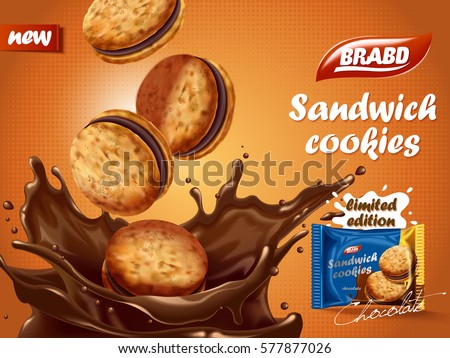 sandwich chocolate cookies ad