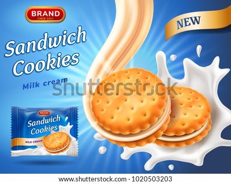 sandwich cookies ads delicious