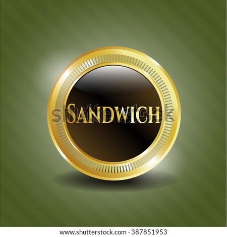 Sandwich gold emblem or badge