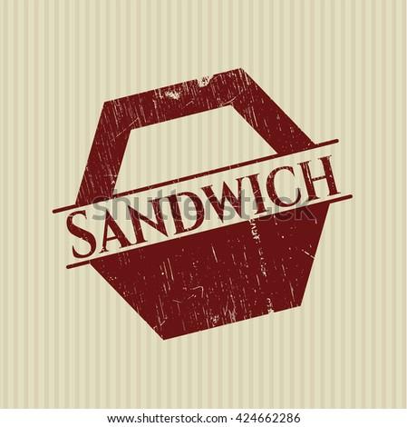 Sandwich grunge stamp