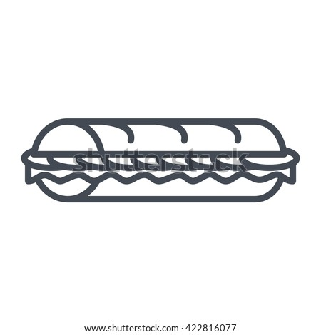Sandwich Icon Vector