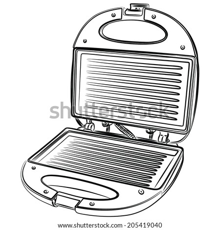 sandwich maker opened, vector Stock photo ©