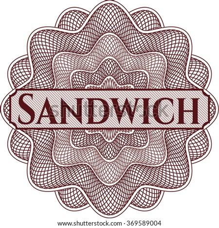 Sandwich money style rosette