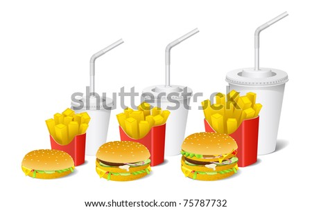 Sandwich, potato and a cup are shown in the picture