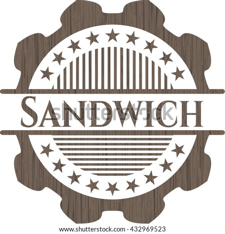Sandwich retro wood emblem