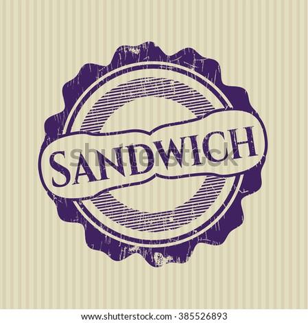 Sandwich rubber stamp