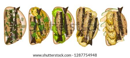 sandwich set with sprats with