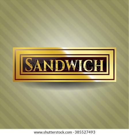Sandwich shiny badge