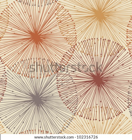 Sandy and orange radial elements. Seamless background for patterns, cards, textile, wallpapers, web pages