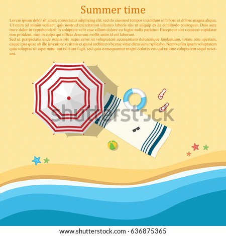 sandy beach with an umbrella