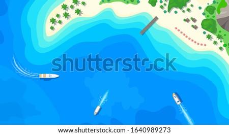 sandy island beach wooden pier
