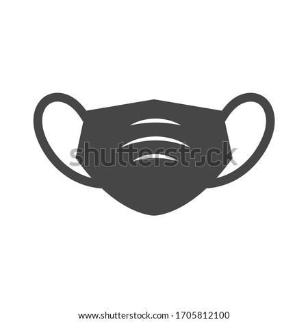 Sanitation and protection facemask ppe icon set with respiratory face masks