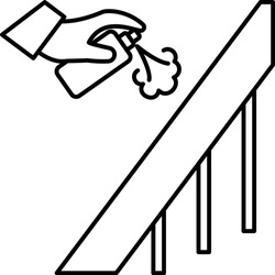 Sanitizing Handrail Concept Vector Icon Design, Home and Office Disinfecting and Decontamination Services Symbol on White background