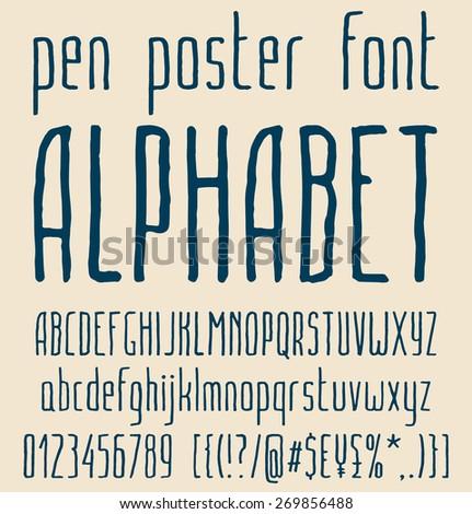sans serif hand drawn elegant