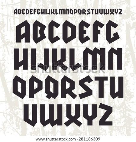 sanserif blackletter font