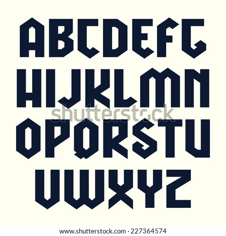 sanserif line geometric font in