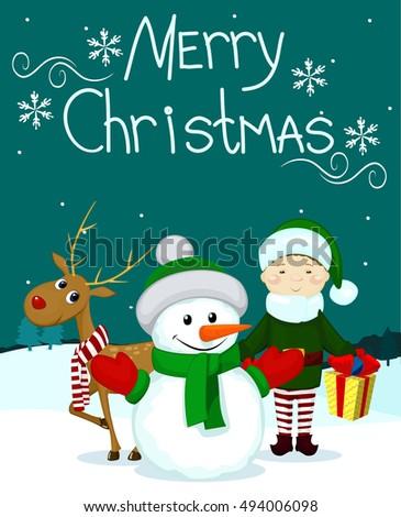 santa and friends elf gift