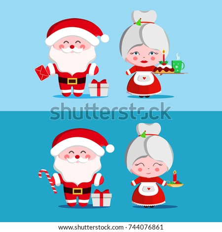 santa and mrs claus mother and