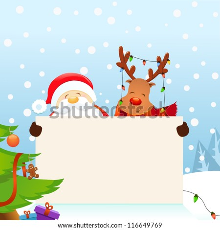 Santa and Rudolph's Christmas Message