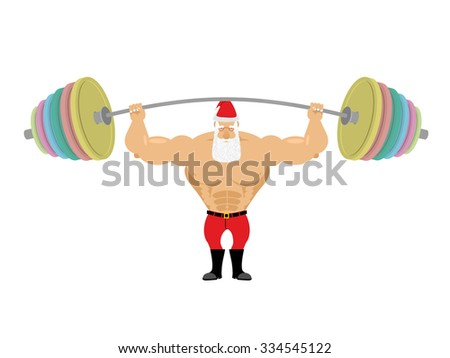 santa claus and barbell bench