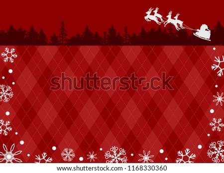 santa claus and snow crystal