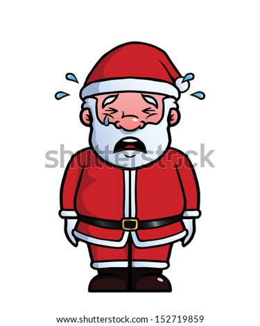 Santa Claus Being Sad And Crying. Stock Vector ...