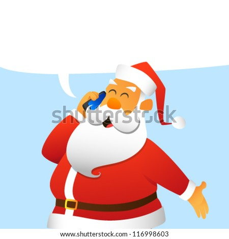 Santa Claus calling by mobile phone