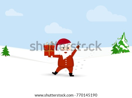 santa claus carries presents